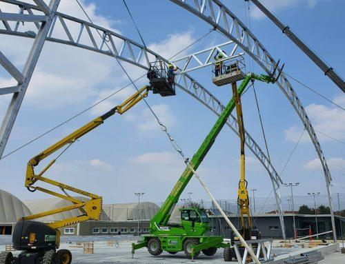Noleggio piattaforma aerea per installazione e manutenzione impianti siti o apparati di telefonia